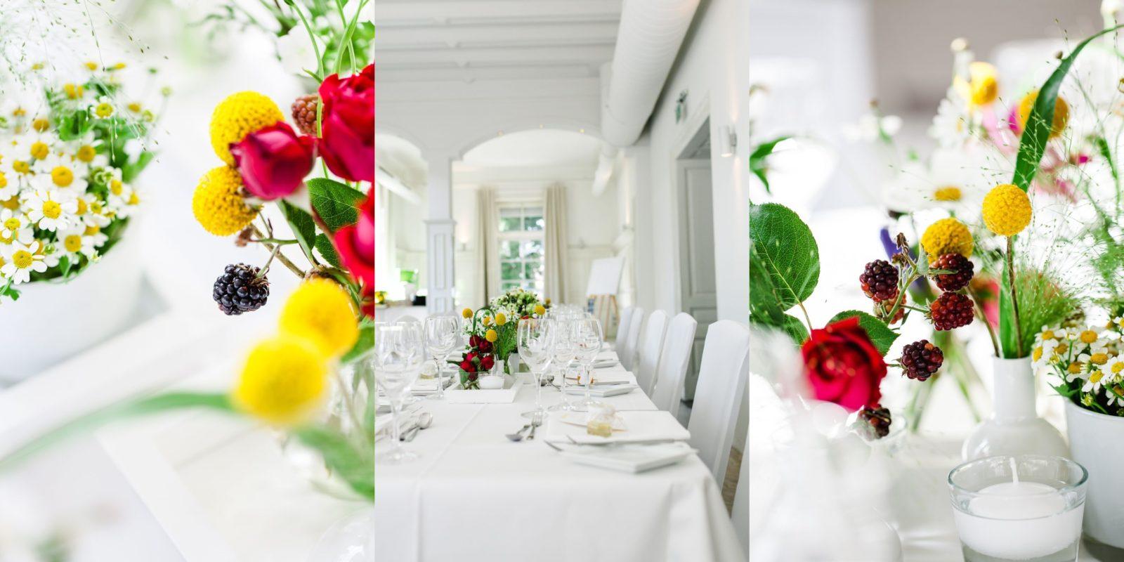 moderne Tischdekoration Hochzeit