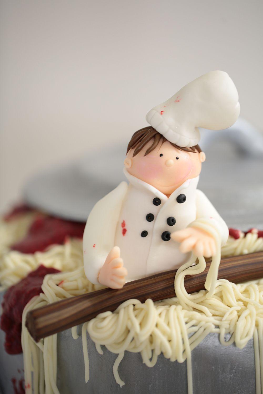 Geburtstagstorte Fur Einen Koch Ein Topf Voller Spaghetti Bolognese