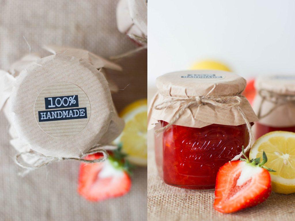 b marmelade zitrone-erdbeeren