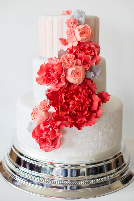 Sweet Candy Table Zur Hochzeit In Koralle Apricot Und Grau