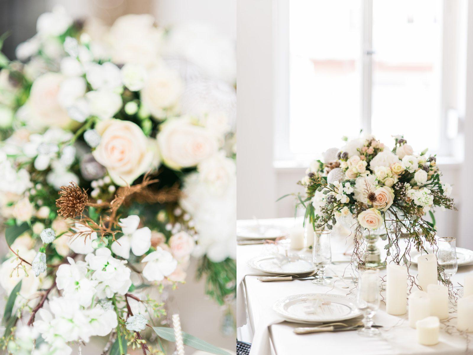 Glamouröse Hochzeit im Winter mit edler Hochzeitstorte – Backlinse