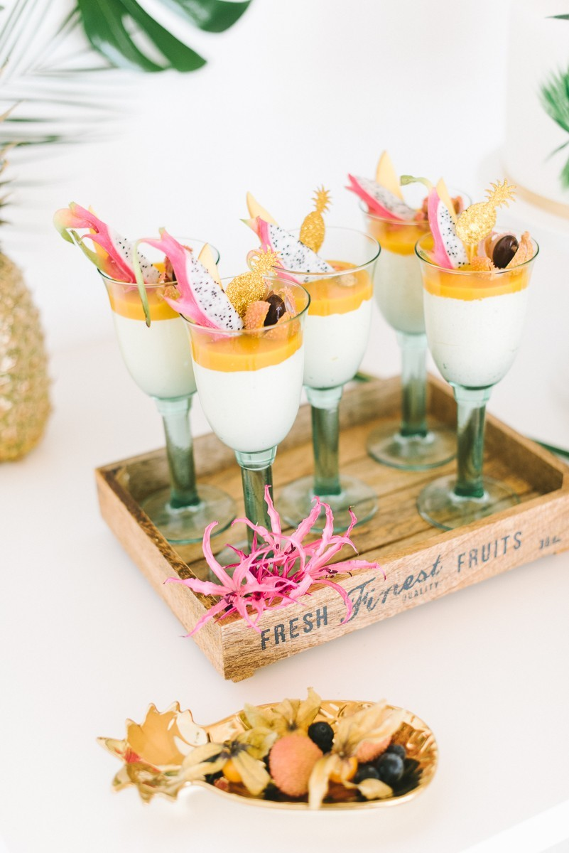 dessert exotische früchte hochzeit
