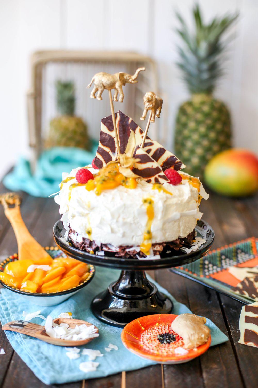 no bake zebra kokostorte