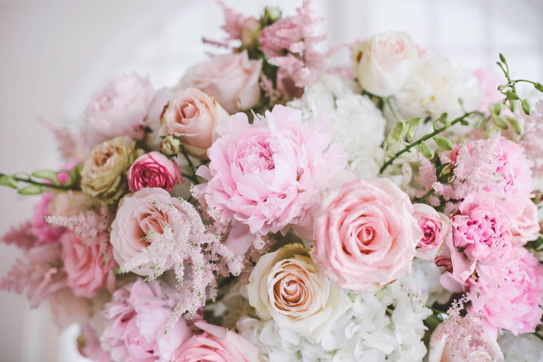 hochzeitsblumen rosa blush