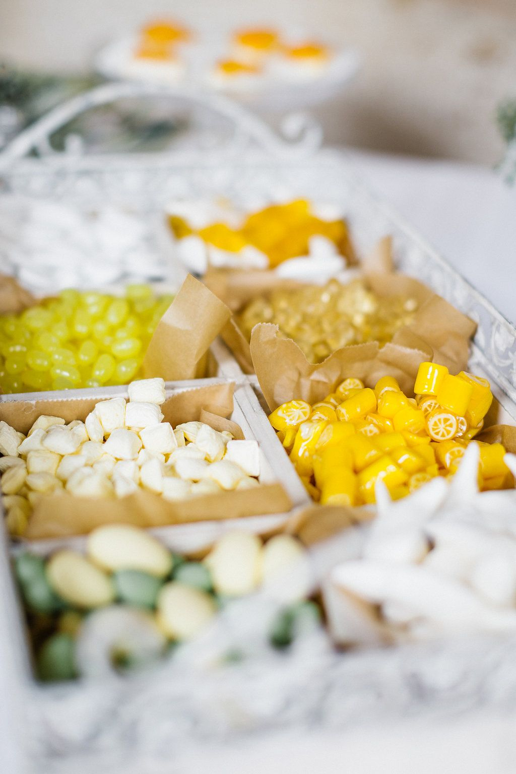 bonbons gelb auswahl candybar