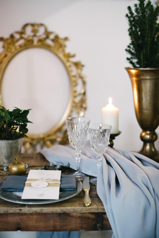 Hochzeitstorte elegantes Konzept winterhochzeit
