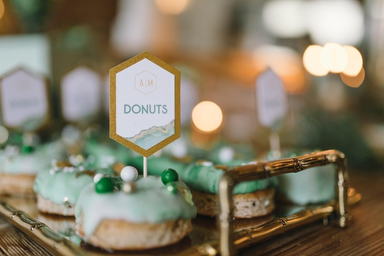 donuts hochzeit geode