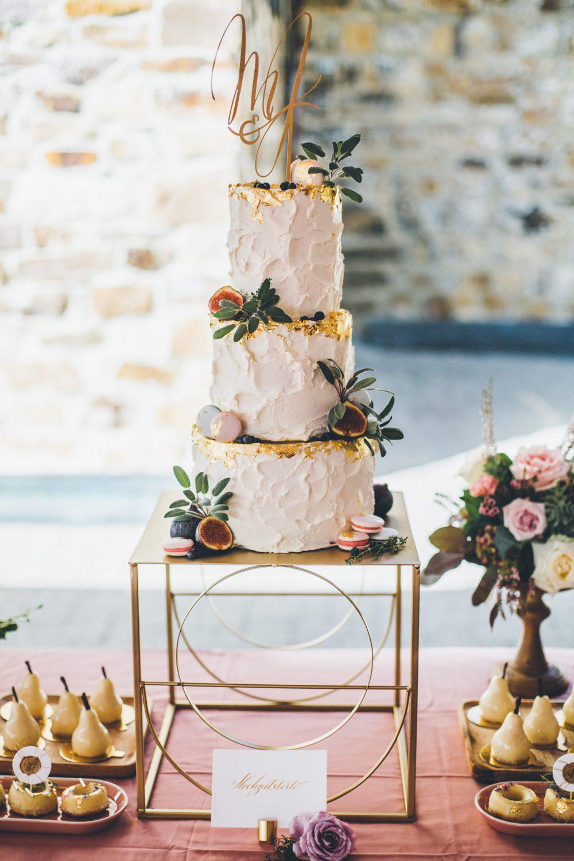 Semi Naked Cake Hochzeitstorte