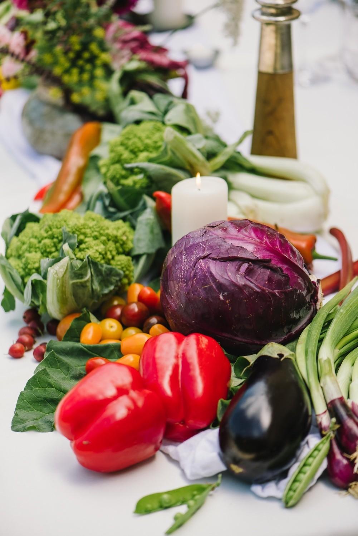 Tischdekoration-obst-gemuese-